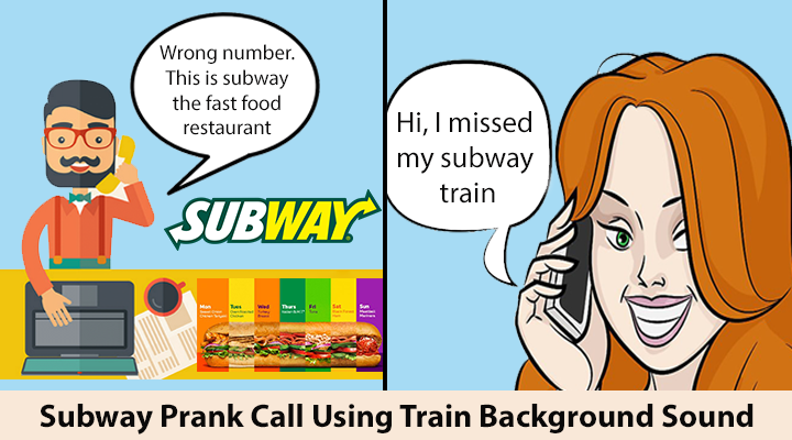 Subway (The Restaurant) & Subway Train Prank Call